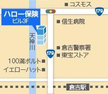 倉吉支店地図