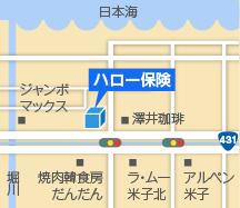 米子支店地図